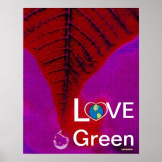 Love Green - Atumn Tear Drop Poster-Cust.