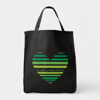 Love Green Forest Heart Bags