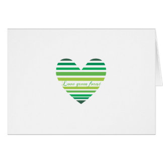 Love Green Forest Heart Greeting Card