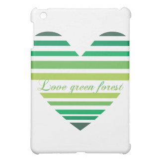 Love Green Forest Heart iPad Mini Case