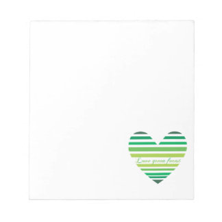 Love Green Forest Notepad
