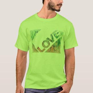 Love Green Motif T-Shirt