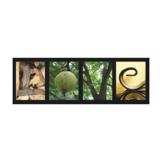 Love Green Nature Elements Creative Mounted Canvas