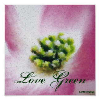 Love Green Poster-Customize