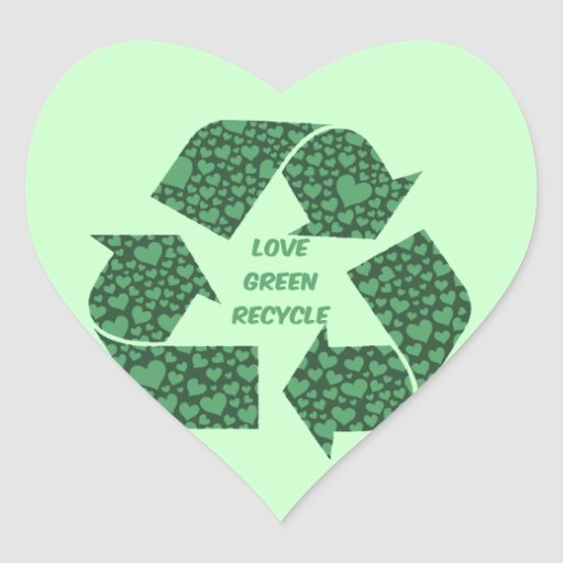 love green recycle sticker