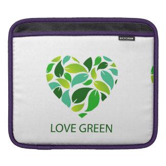 Love green sleeve for iPads