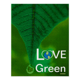 Love Green - Spring Tear Drop Poster-Customize Poster