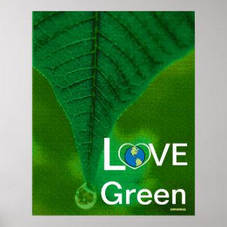 Love Green - Spring Tear Drop Poster-Customize Poster