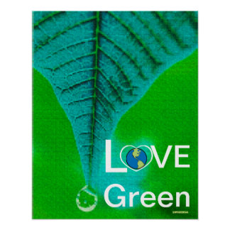 Love Green - Winter Tear Drop Poster-Customize