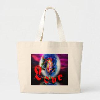 Love greetings large tote bag