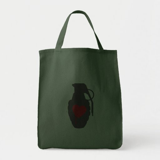 Love Grenade - Love is a Battlefield Grocery Tote Bag