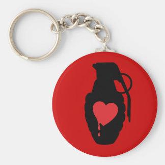 Love Grenade - Love is a Battlefield Keychain