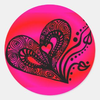Love Grows 2 Classic Round Sticker