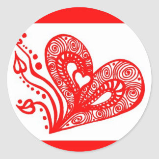Love Grows 5 Classic Round Sticker