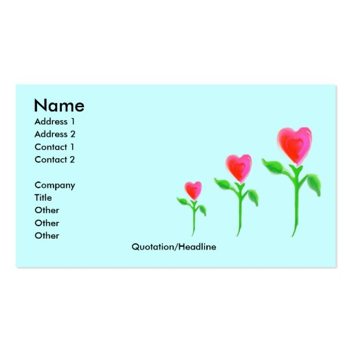 Love Grows business card