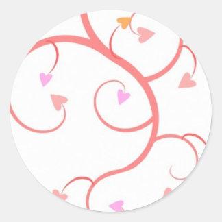 Love Grows Classic Round Sticker