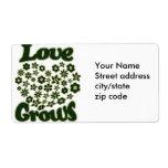 Love Grows Custom Shipping Label