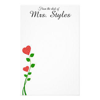 "Love Grows Customizable Stationery Pad 5.5"" x 8.5"""