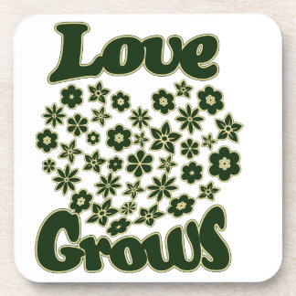 Love Grows Drink Coaster