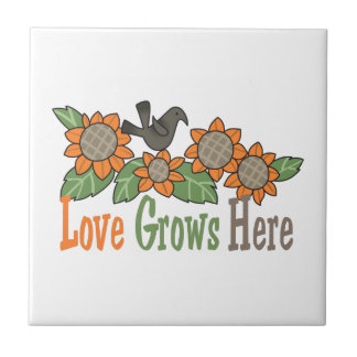 LOVE GROWS HERE TILES