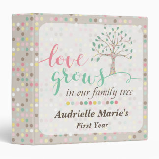 Love Grows In Our Family Tree Baby Shower Custom Binder