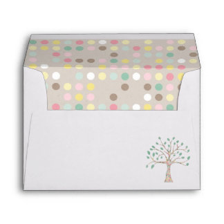 Love Grows In Our Family Tree Baby Shower Party Envelope