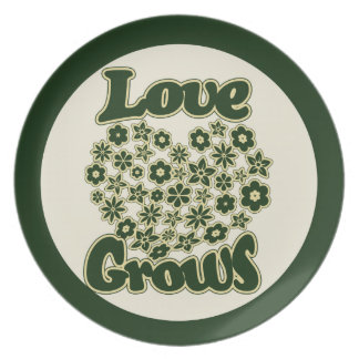Love Grows Melamine Plate