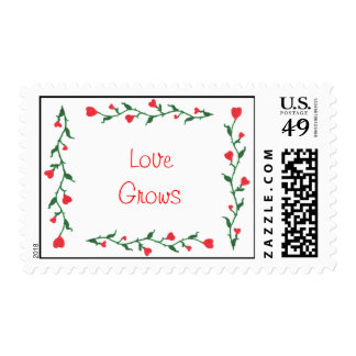 Love Grows postage stamps