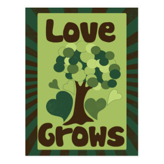 Love Grows Postcard