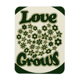 Love Grows Rectangular Photo Magnet