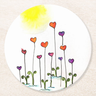 Love Grows! Round Paper Coaster