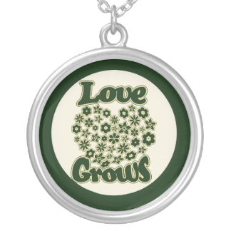 Love Grows Round Pendant Necklace