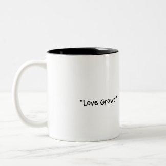"""Love Grows"" Two-Tone Coffee Mug"
