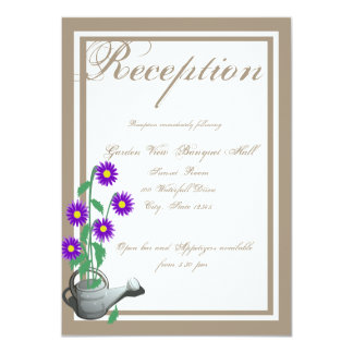 Love Grows Watering Can Wedding Reception Card
