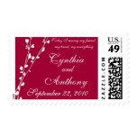 Love Grows Wedding Postage Stamp