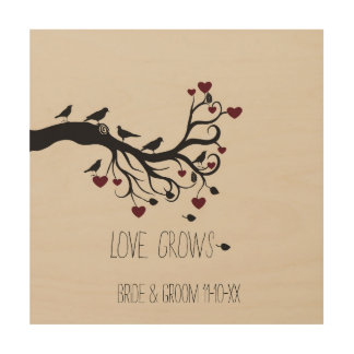 Love Grows Wood Print