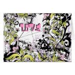 Love grunge card