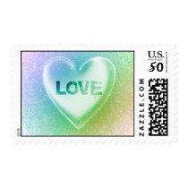 Love : Grunge Heart : Postage