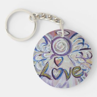 Love Guardian Angel Word Custom Keychain