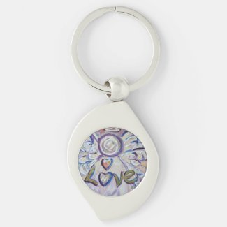 Love Guardian Angel Word Custom Keychains