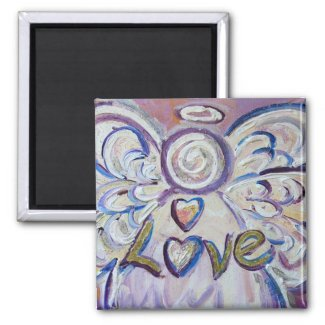 Love Guardian Angel Word Custom Magnets