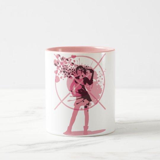 Love_Gun Two-Tone Coffee Mug