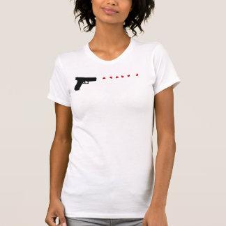 Love Gun vintage style womens tshirt
