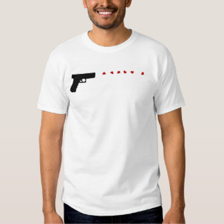 Love Gun womens thin white and gray striped tshirt