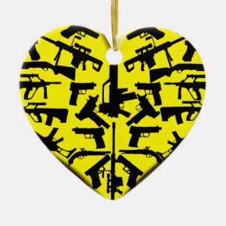 LOVE GUNS CHRISTMAS ORNAMENT