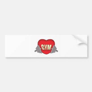 love gym bumper sticker