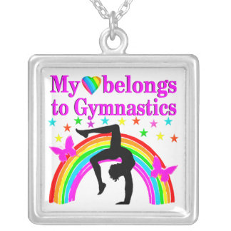 LOVE GYMNASTICS FOREVER SILVER PLATED NECKLACE