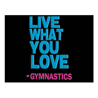 Love Gymnastics Gifts Postcard