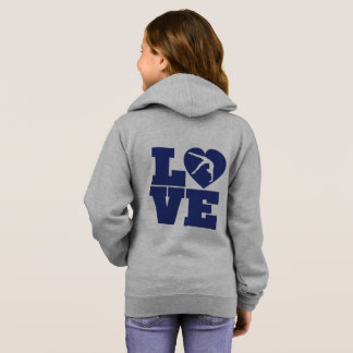 Love Gymnastics Girls' Basic Zip Hoodie