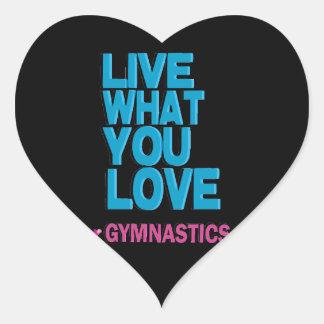 Love Gymnastics Heart Stickers